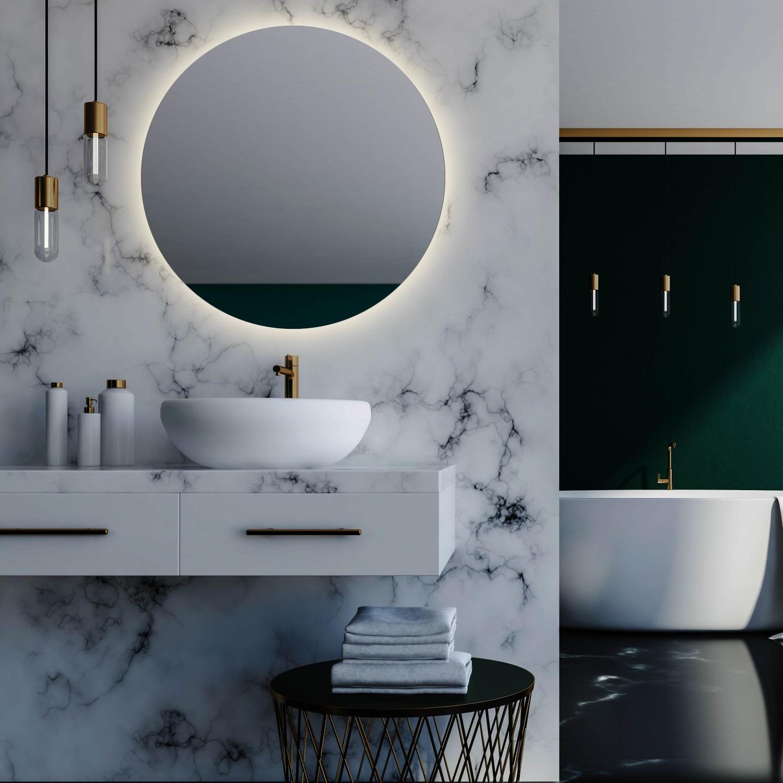 Badkamerspiegel Martens Design Rotondo met Indirecte Verlichting Rondom (alle maten)