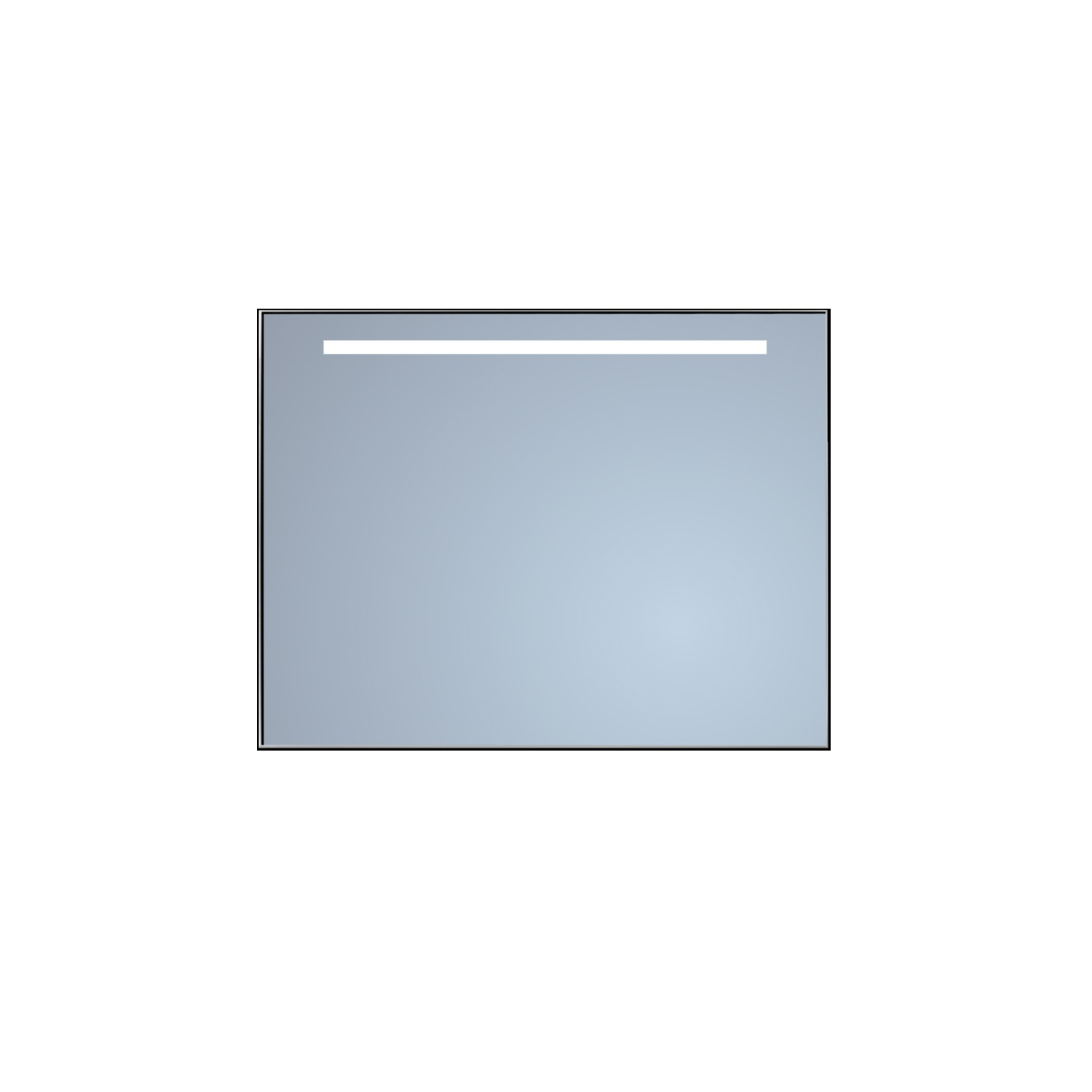 Badkamerspiegel Sanicare Q-Mirrors 'Cool White' LED-Verlichting 70x70x3,5 cm Chroom Omlijsting