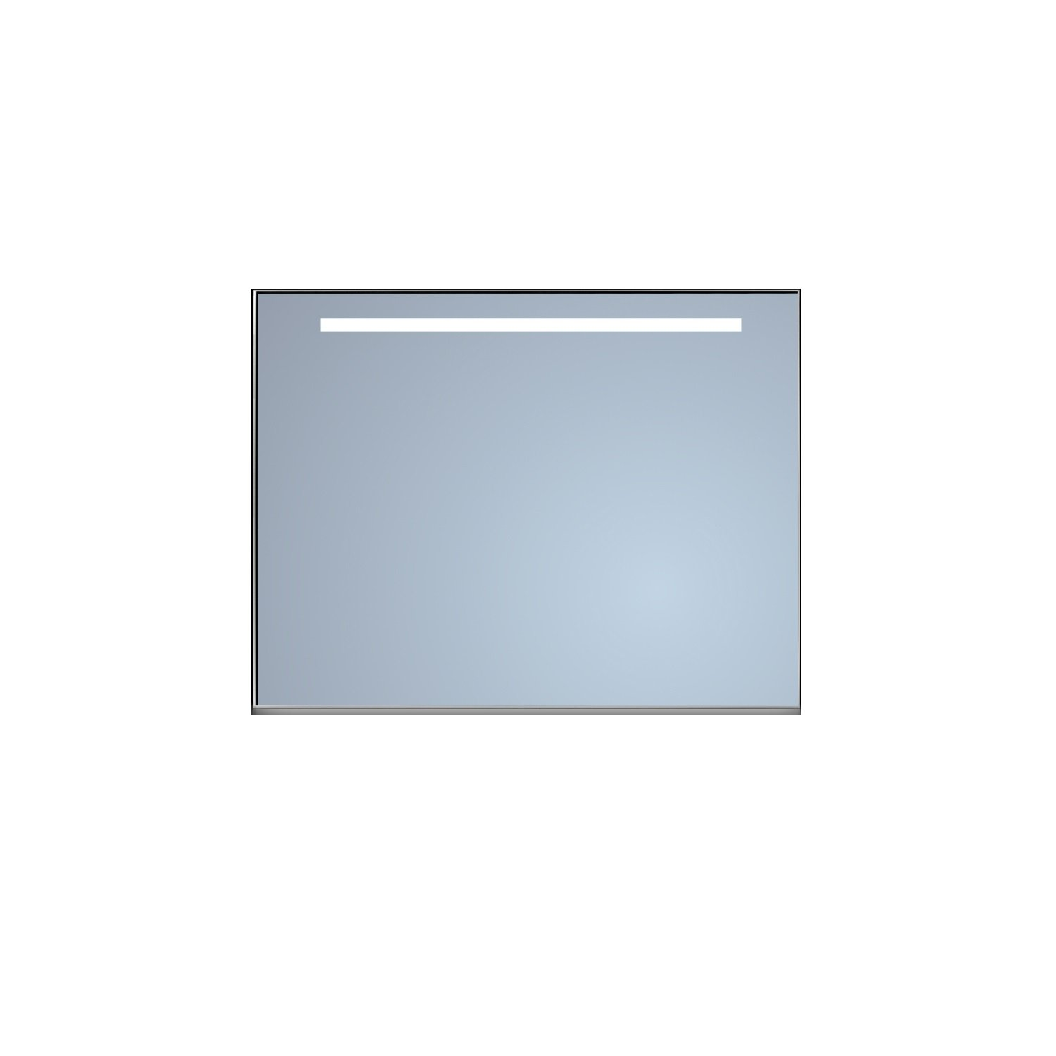 Badkamerspiegel Sanicare Q-Mirrors Ambiance en 'Cold White' LED-verlichting 70x120x3,5 Alu Omlijsting