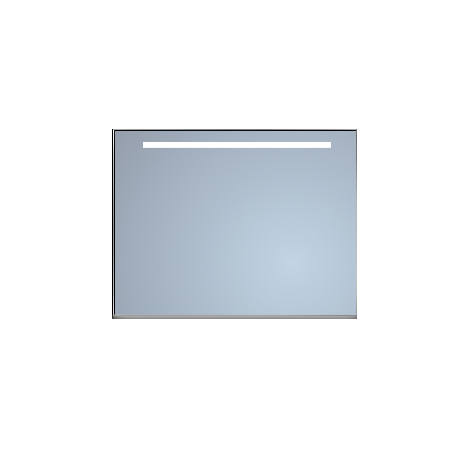 Badkamerspiegel Sanicare Q-Mirrors Ambiance en 'Cold White' LED-verlichting 70x65x3,5 Alu Omlijsting