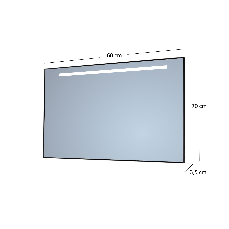 Badkamerspiegel Sanicare Q-Mirrors Met TL-Verlichting 70x60x3,5 cm ...