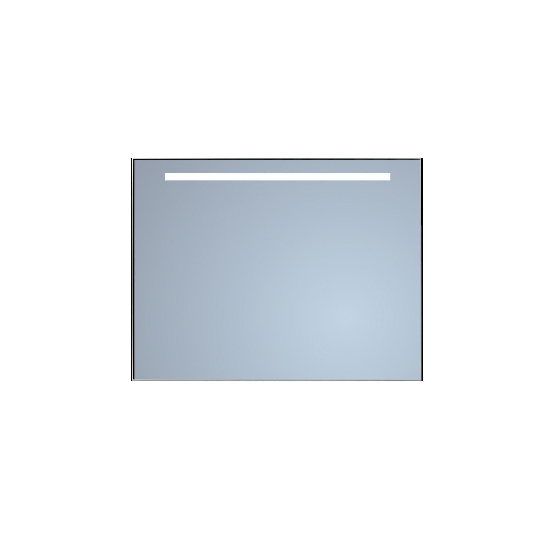 Badkamerspiegel Sanicare Q-Mirrors 'Warm White' LED-Verlichting 70x65x3,5 cm Alu Omlijsting