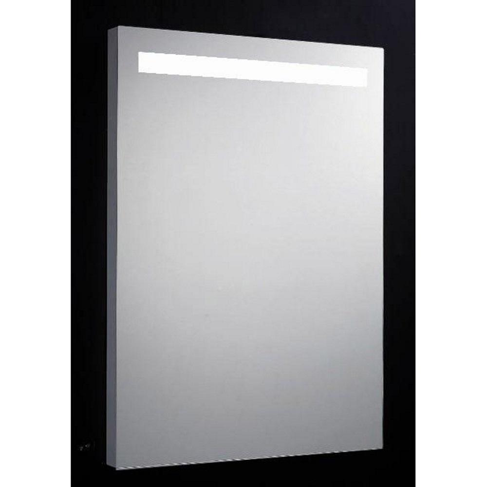 Badkamerspiegel Sanilux Aluminium 58x80x4,5 cm met TL-Verlichting en Spiegelverwarming