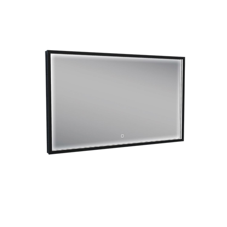 Badkamerspiegel met LED-Verlichting Wiesbaden Condensvrij 70x50 cm Mat Zwart product foto