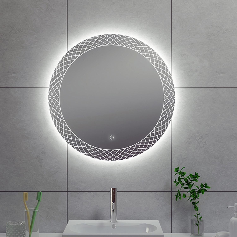 Badkamerspiegel Wiesbaden Deco Rond met LED Verlichting Condensvrij 80 cm