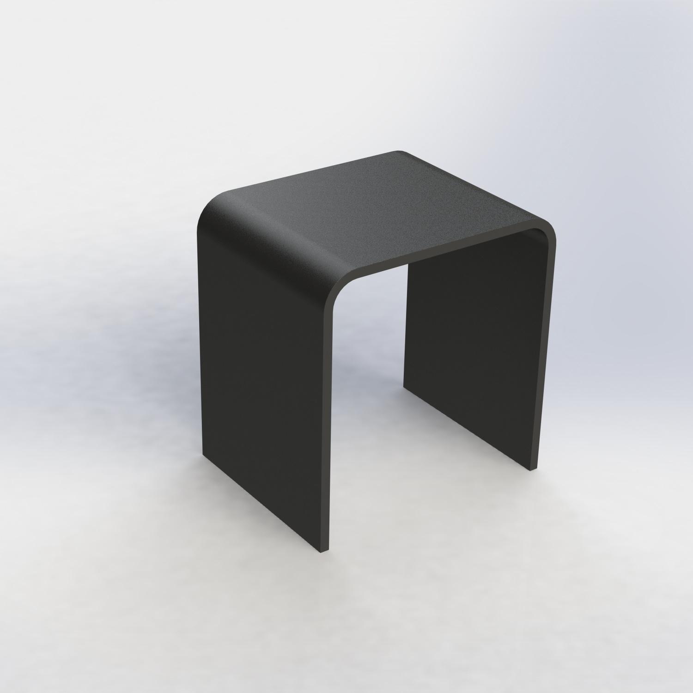 Badkruk Boss & Wessing Cast Marble Seat Clean Large Mat Zwart OP=OP!
