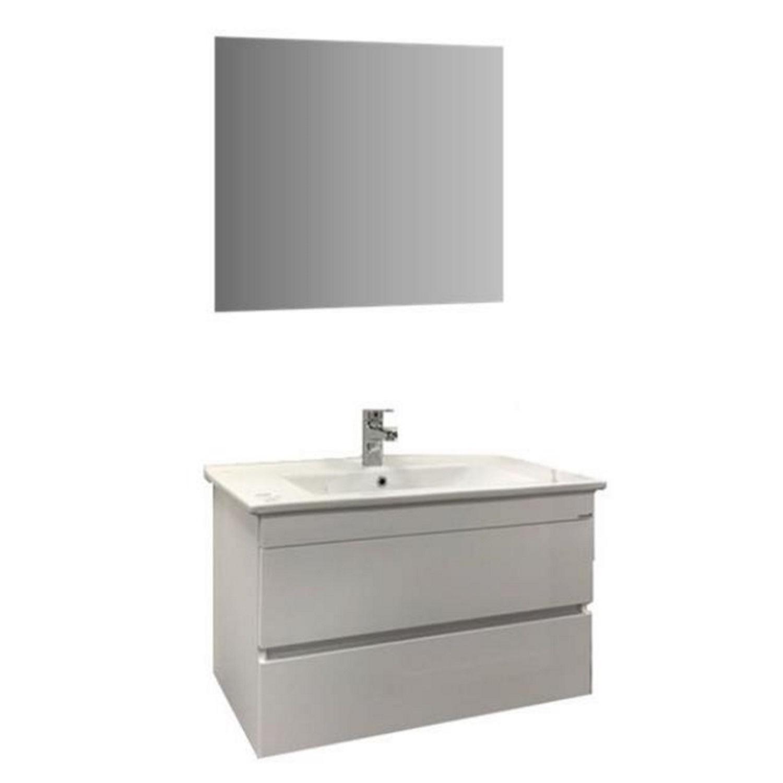 Badmeubelset Enis 65 cm Wit incl. Spiegel vergelijken Allibert