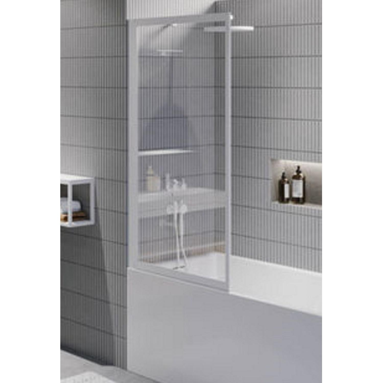 Productafbeelding van Badwand Riho Lucid GD501 Omkeerbaar Verstelbaar Aluminium 150x80 cm Mat Wit