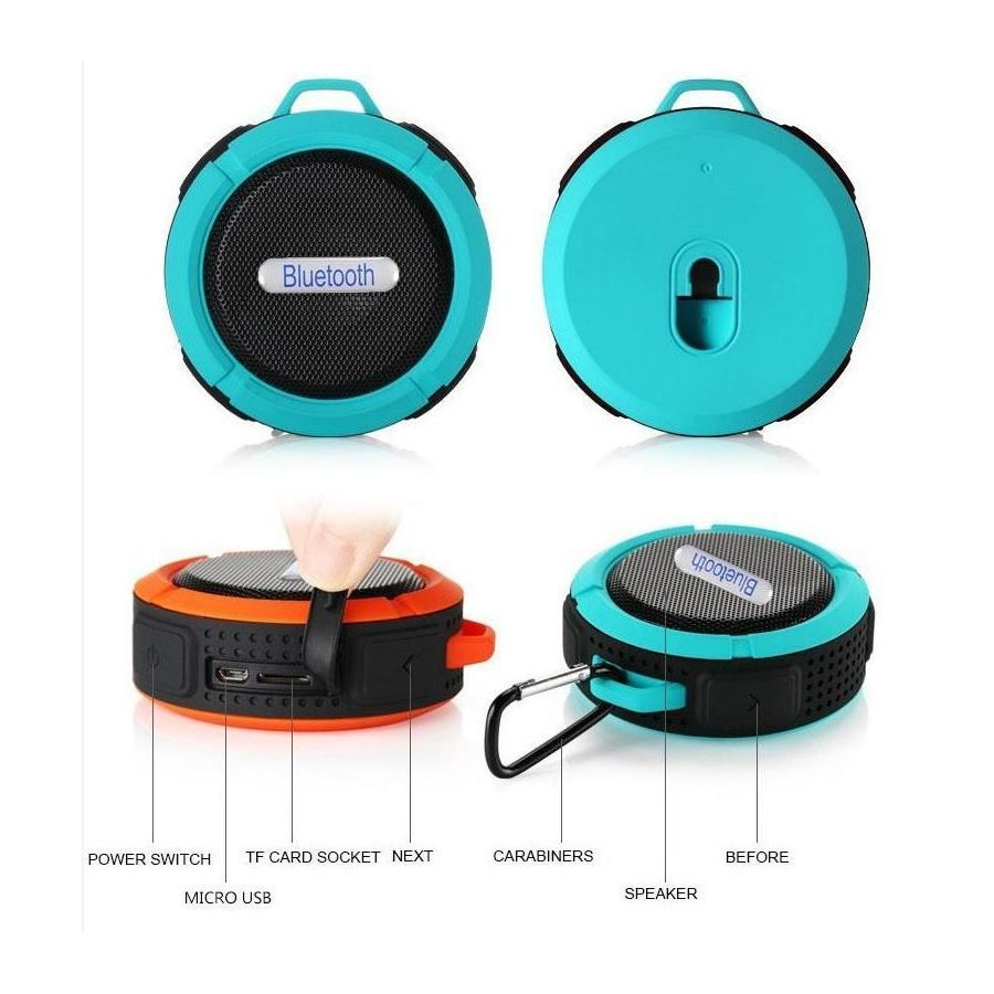 Radio Waterbestendige Bluetooth Douche/Bad Mp3 Waterproof Blauw