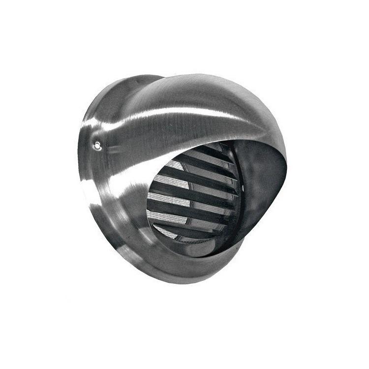 Bolrooster BWS Ventilatie Aansluitmaat Ø 200mm Met Muggengaas RVS