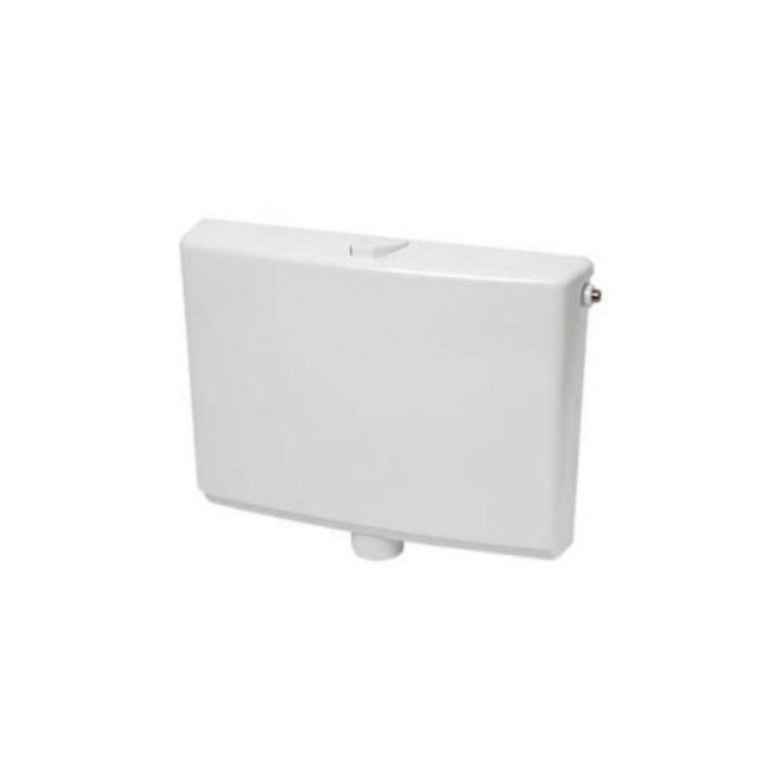 Laaghangend Reservoir Wisa 550 Single Flush 6 tot 9 liter Instelbaar Wit