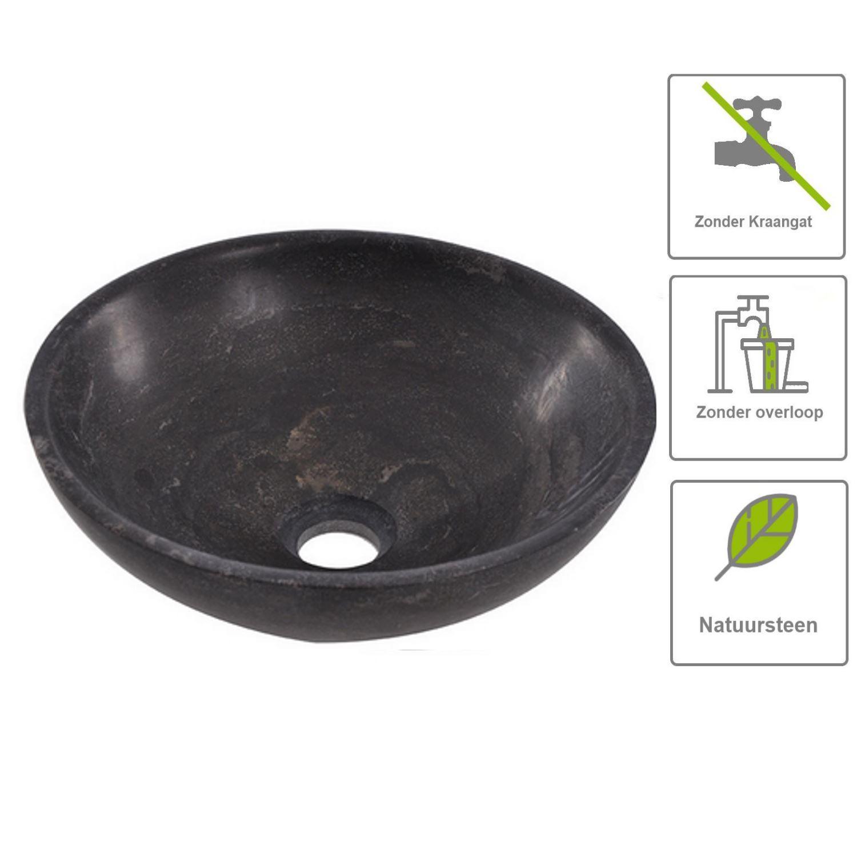 Sanitair-producten 67496 BWS Opzet Waskom Wadjet Hardsteen 32x32x12 cm
