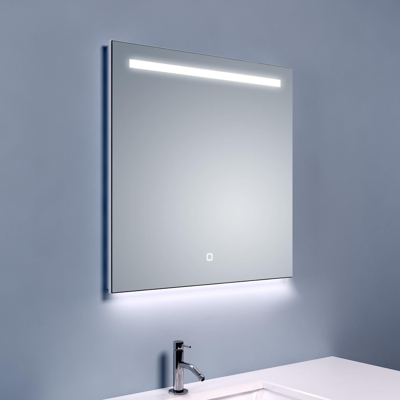 Bws ambi led spiegel dimbaar one condensvrij 60x60 cm for Spiegel 60x60