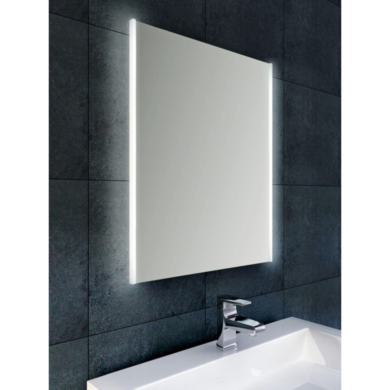 Bws anubis duo condensvrije led spiegel 100x60 cm aluminium for Spiegel 100x60