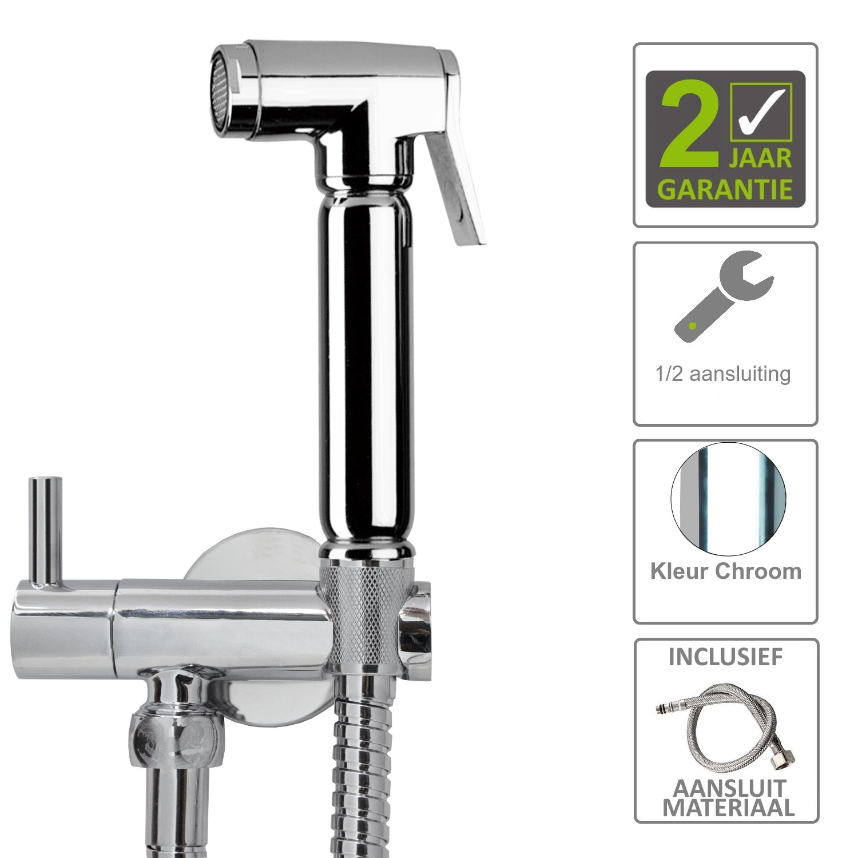 BWS Bidet Handdoucheset 2.0 Rond Chroom Sanitair-producten > Douchegarnituur > Handdouches kopen