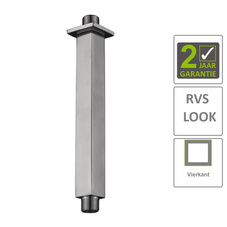 Kranen 74568 BWS Douchearm Hera Luxe Plafondbevestiging Vierkant 20 cm RVS