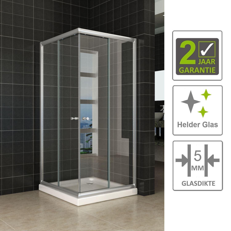 Sanitair-producten 67160 BWS Eco Hoekinstap Douchecabine 90x90x190 cm 5mm Helder Glas