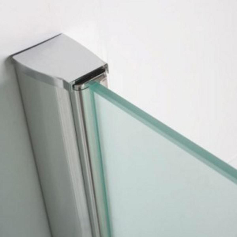 bws eco inloopdouche met muurprofiel 80x200 cm nano glas chroom