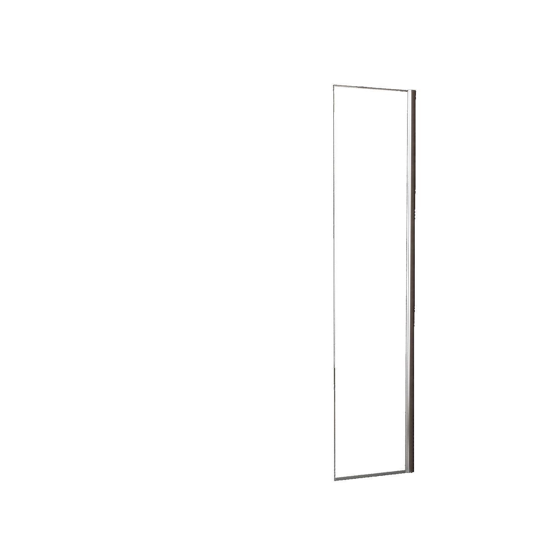 Douche 69632 Zijwand Wiesbaden voor Inloopdouche met Links Scharnierend Profiel 35×200 cm 10 mm NANO Geheel Mat Glas