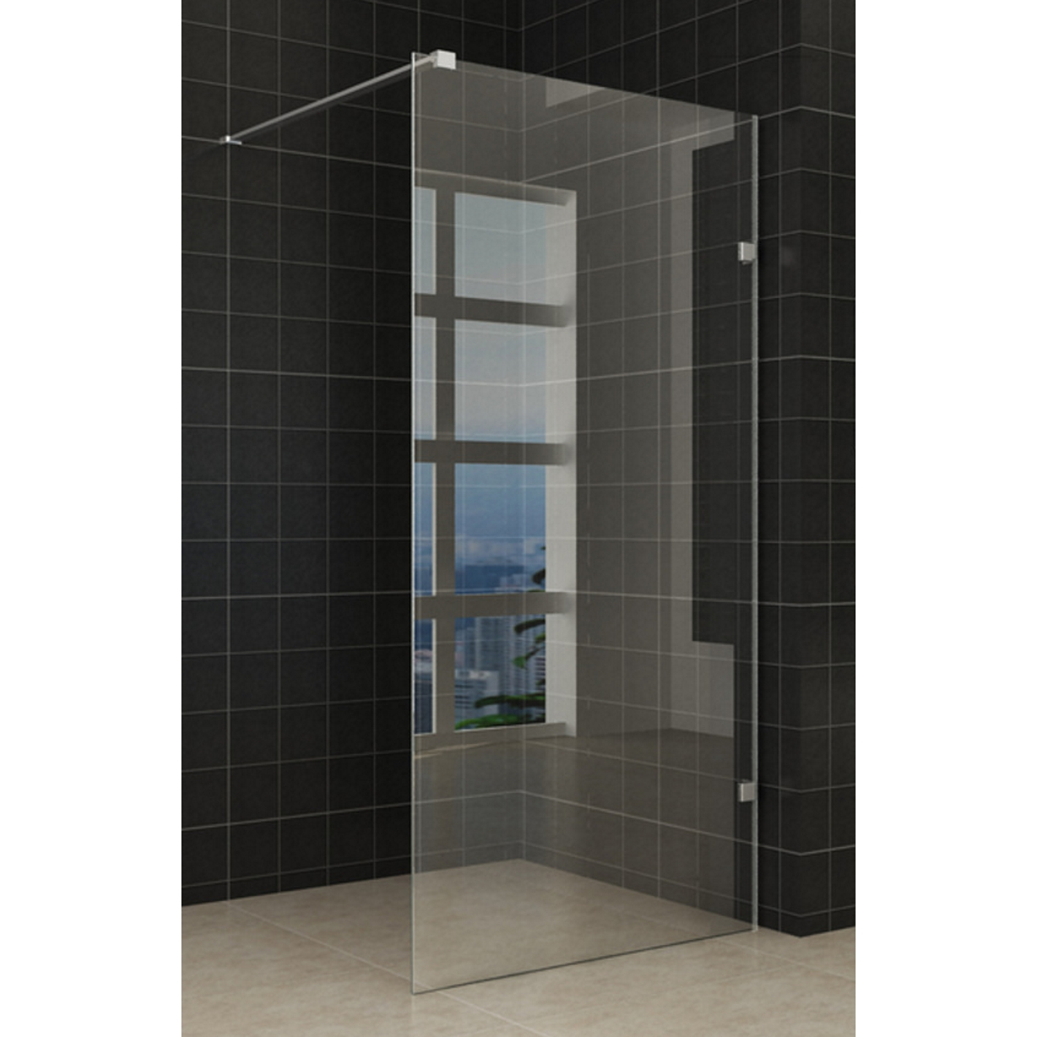 Douche 67541 BWS Edge Douchewand Profielloos 120×200 cm 8 mm NANO coating