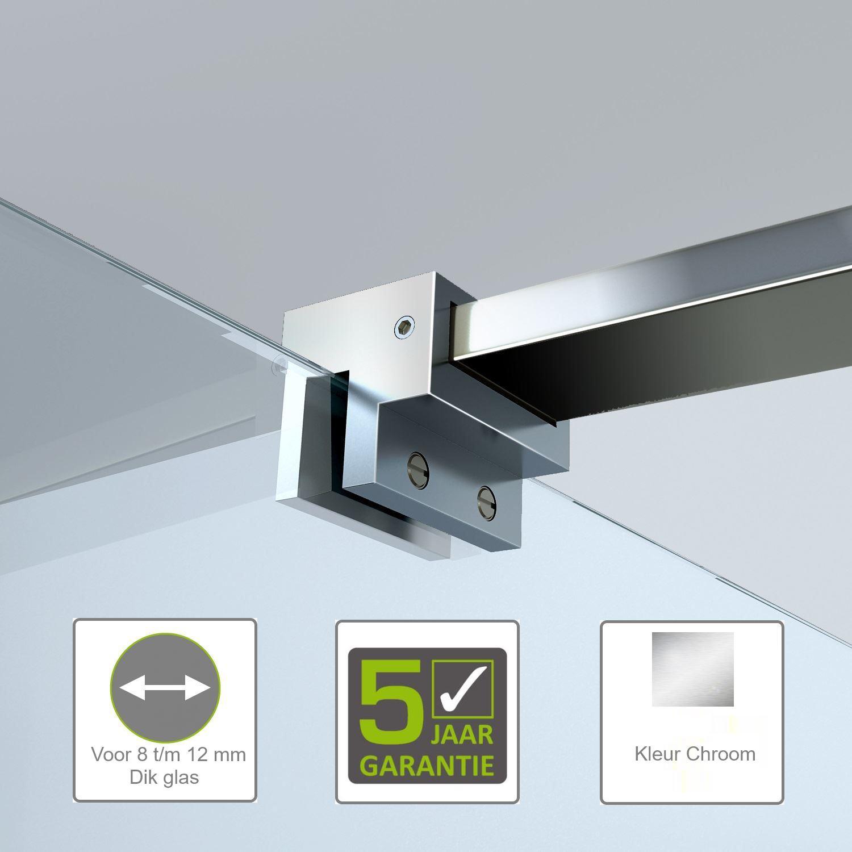 Sanitair-producten 62049 BWS Glaskoppeling voor Stabilisatiestang Haaks 8 t/m 12 mm