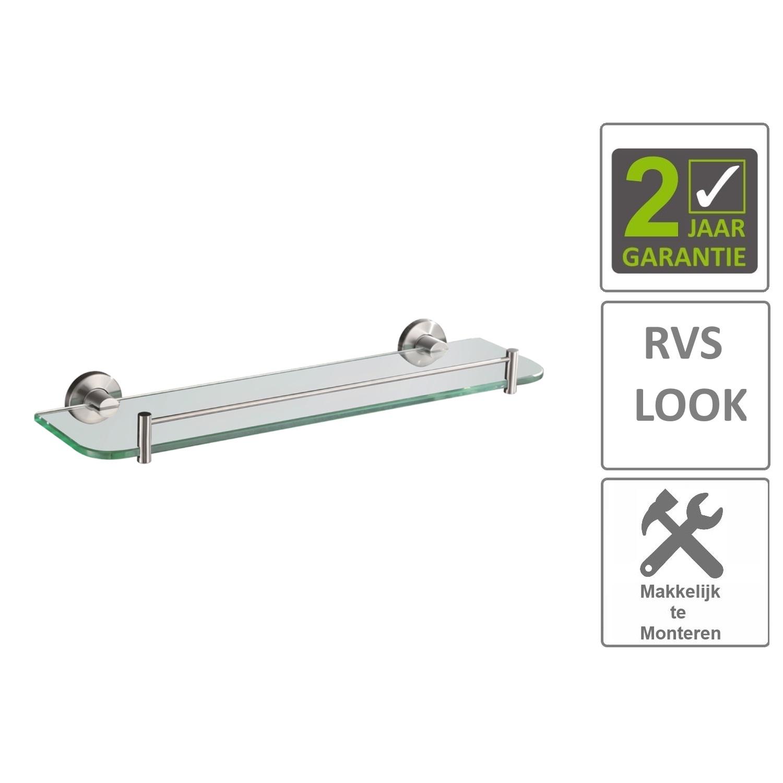 Sanitair-producten 74600 BWS Glazen Planchet Hera 54cm RVS