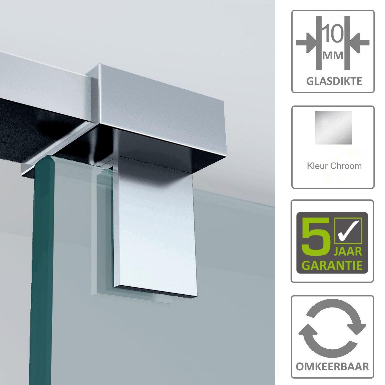 Sanitair-producten 67497 BWS Haakse Glaskoppeling Chroom Draaibaar t.b.v. Stabilisatiestang