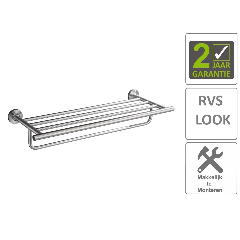 Sanitair-producten 74618 BWS Handdoekrek Hera Lig/Hang Rond RVS