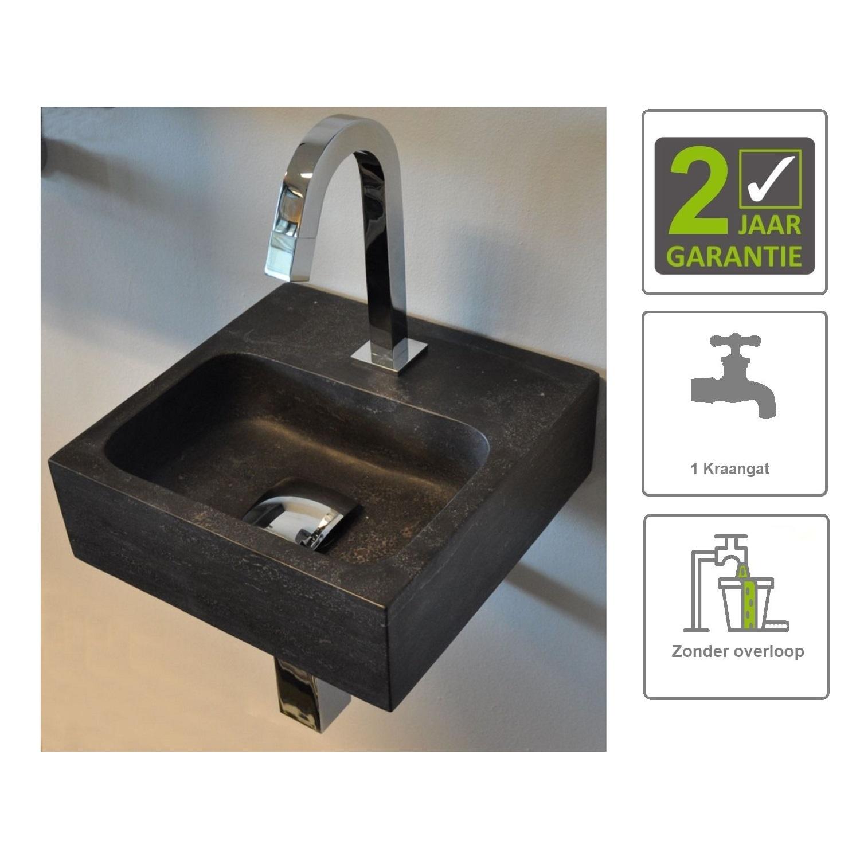 Sanitair-producten 73847 BWS Hardstenen Fontein Vierkant 30x30x10 cm