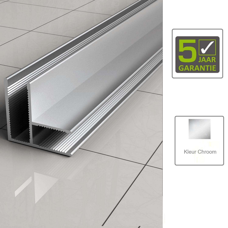 Sanitair-producten 67487 BWS Hoekprofiel 90 graden t.b.v. Glaswand 1 cm
