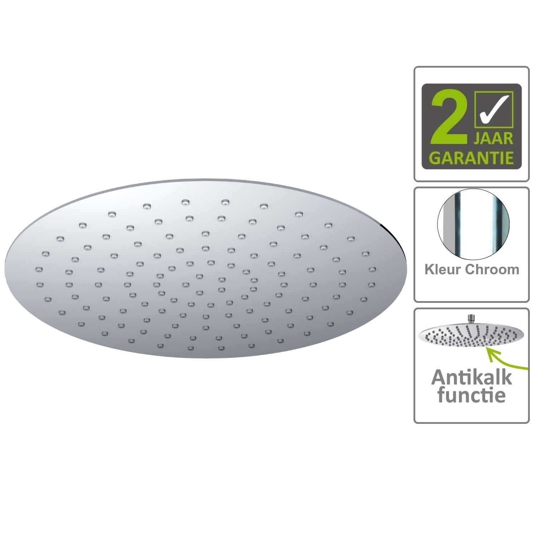 Sanitair-producten 75154 BWS Hoofddouche Luxe Rond Ultra Plat 30cm Chroom
