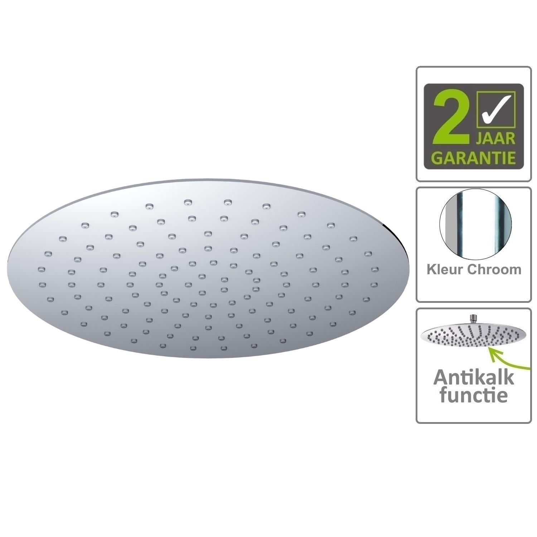 Sanitair-producten 75198 BWS Hoofddouche Luxe Rond Ultra Plat 50cm Chroom