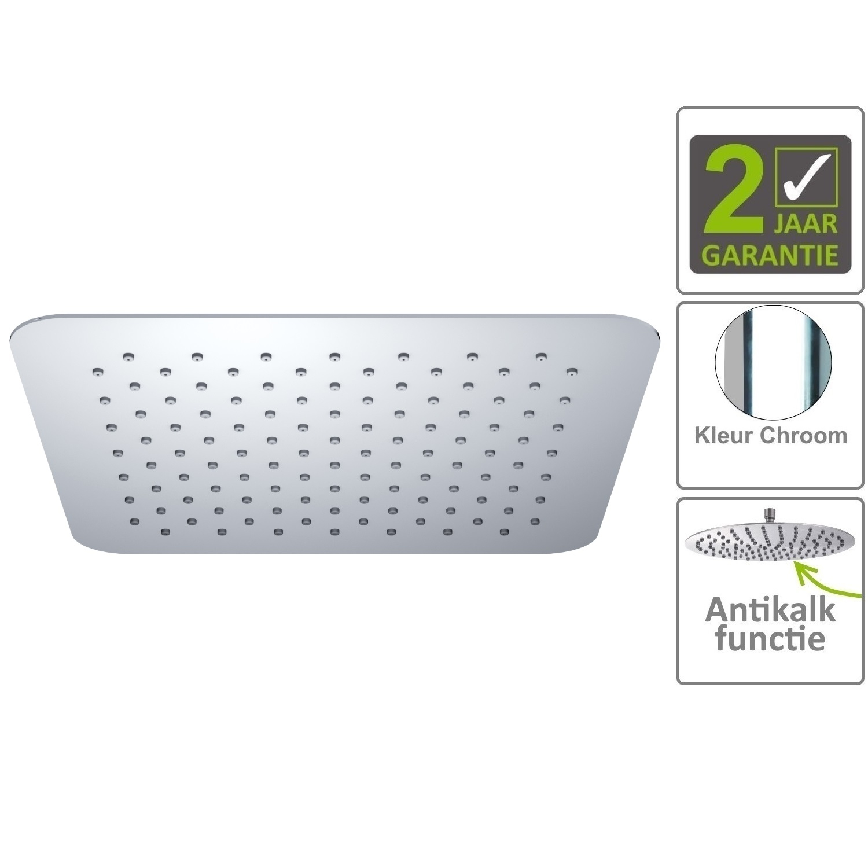 Sanitair-producten 75188 BWS Hoofddouche Luxe Vierkant Ultra Plat 30cm Chroom