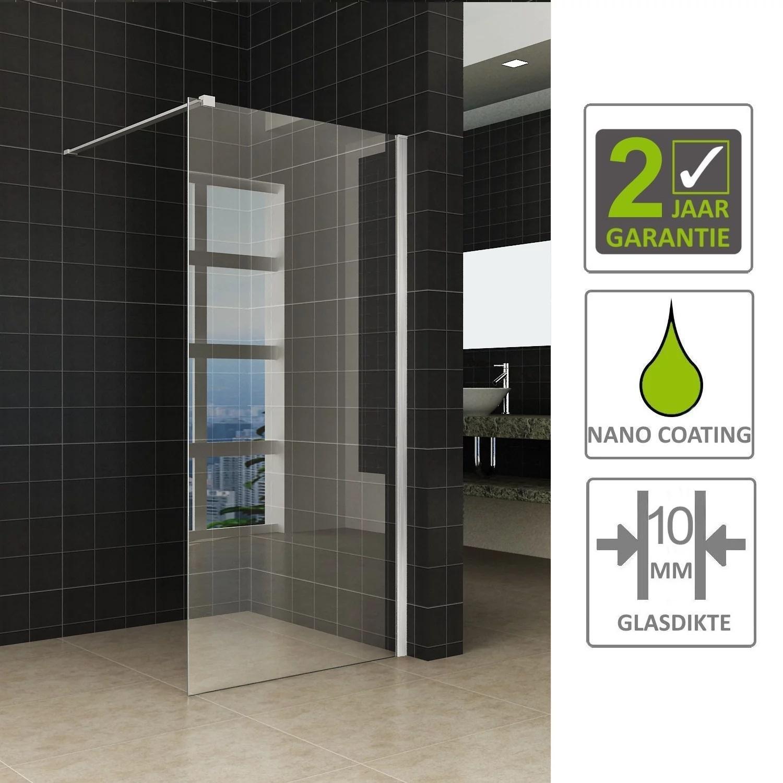 Sanitair-producten 67467 BWS Inloopdouche Corner met RVS Profiel 100×200 cm 10 mm NANO Coating