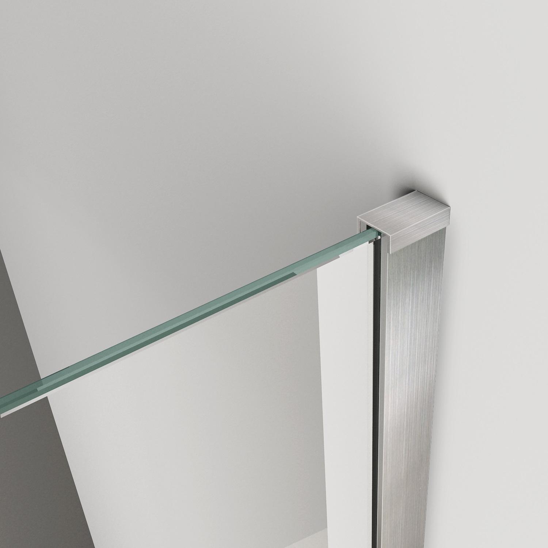 inloopdouche corner met rvs profiel 100x200 cm 10 mm nano coating