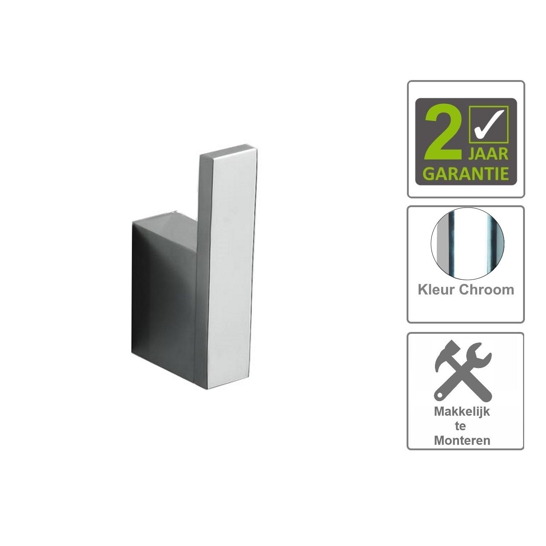 Sanitair-producten 74622 BWS Jashaak / Handdoekhaak Uni Chroom