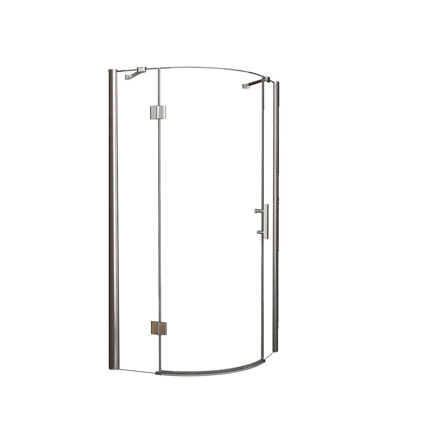 Douche 66801 BWS Kwartronde Douchecabine 90x90cm 1 deur Links 8mm NANO coating