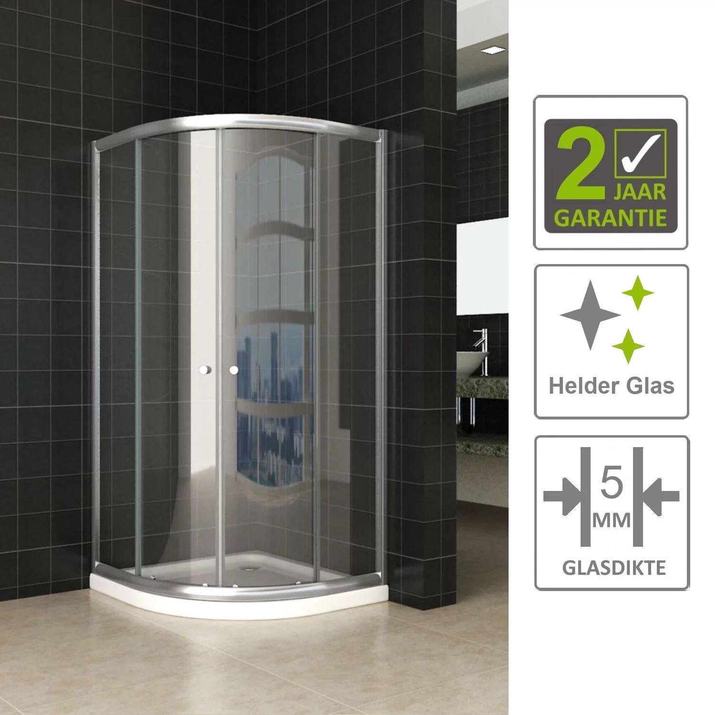 Sanitair-producten 67145 BWS Kwartronde Douchecabine 90x90x190 cm 5mm