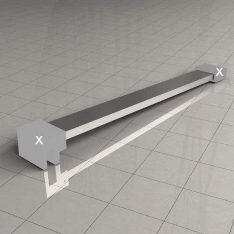 Sanitair-producten 62086 BWS Losse Vierkante Stabilisatiestang 100 cm Chroom