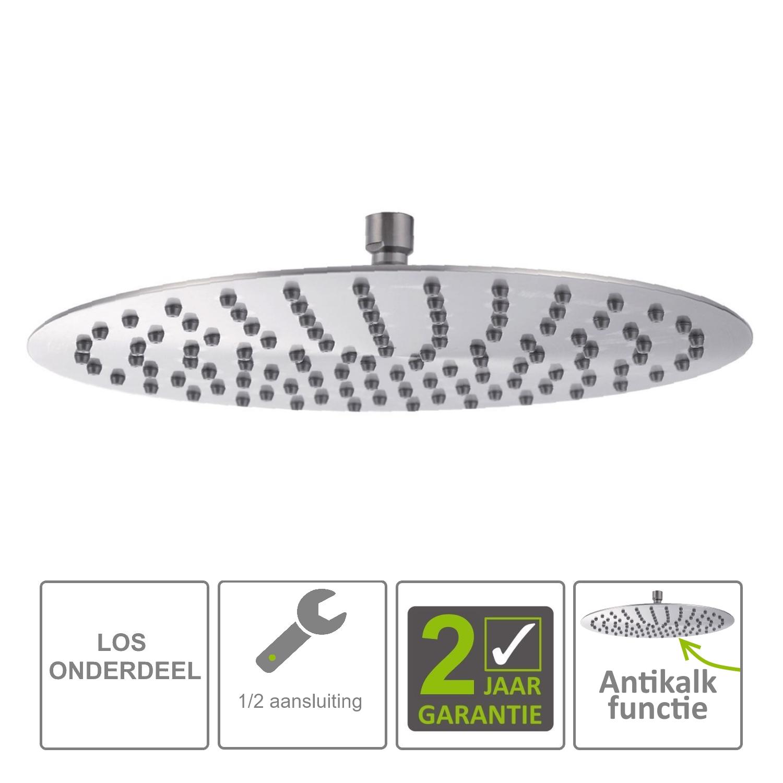 Sanitair-producten 72336 BWS Hera Hoofddouche UFO 30cm Ultra plat Rond 304-RVS