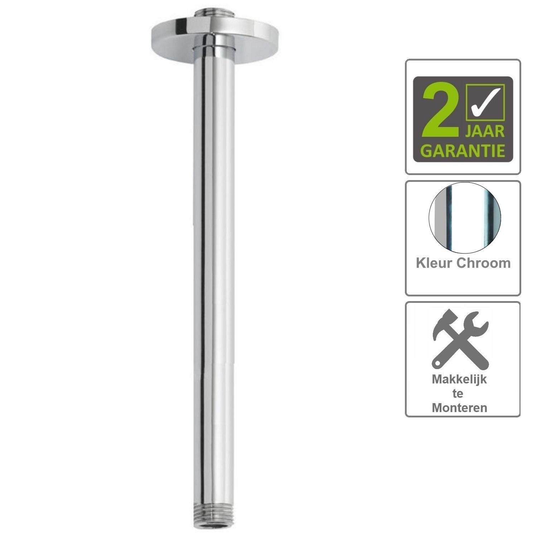 Sanitair-producten 75252 BWS Plafonduitloop Rond Luxe 40cm Chroom