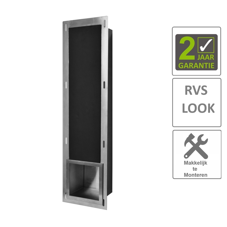 BWS Reserve-Toiletrolhouder Inbouw RVS