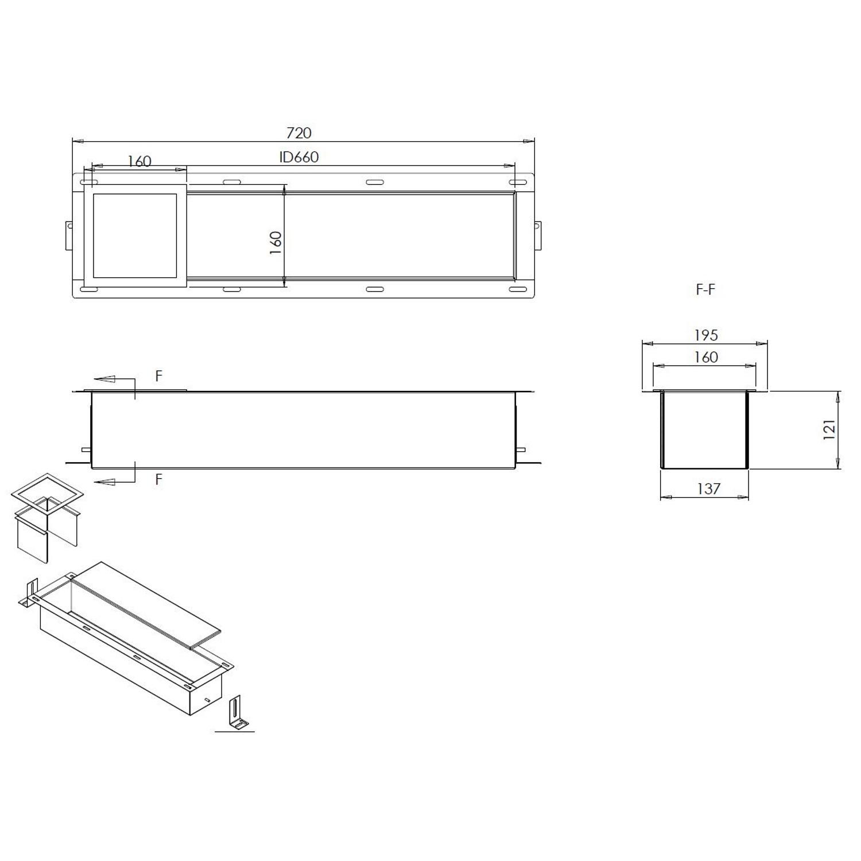 Extreem BWS Reserve-Toiletrolhouder Inbouw RVS ZX86