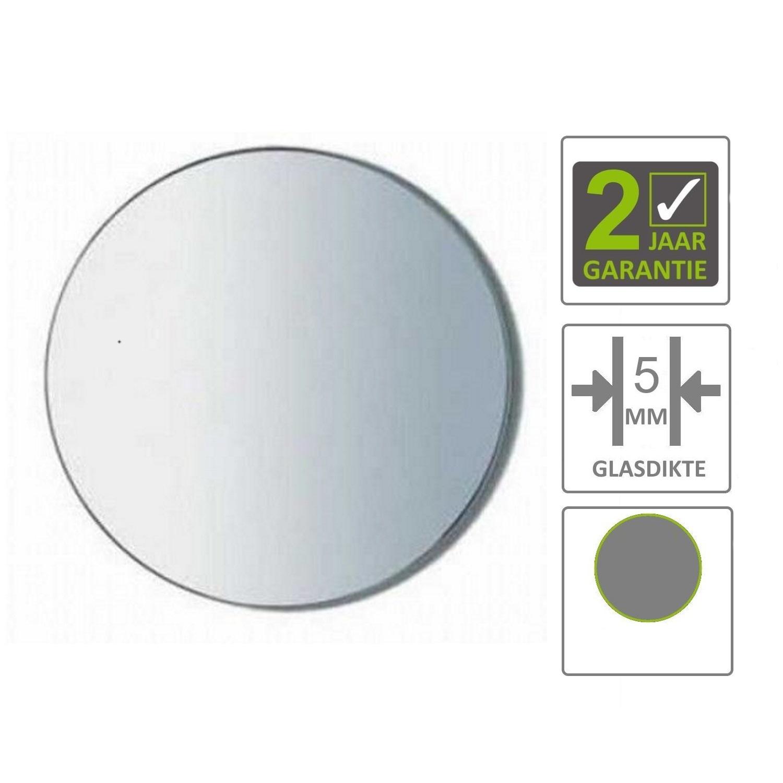 Zeer BWS Spiegel Universal 50 cm Rond 5 mm Aluminium - Tegels en badkamers QT57