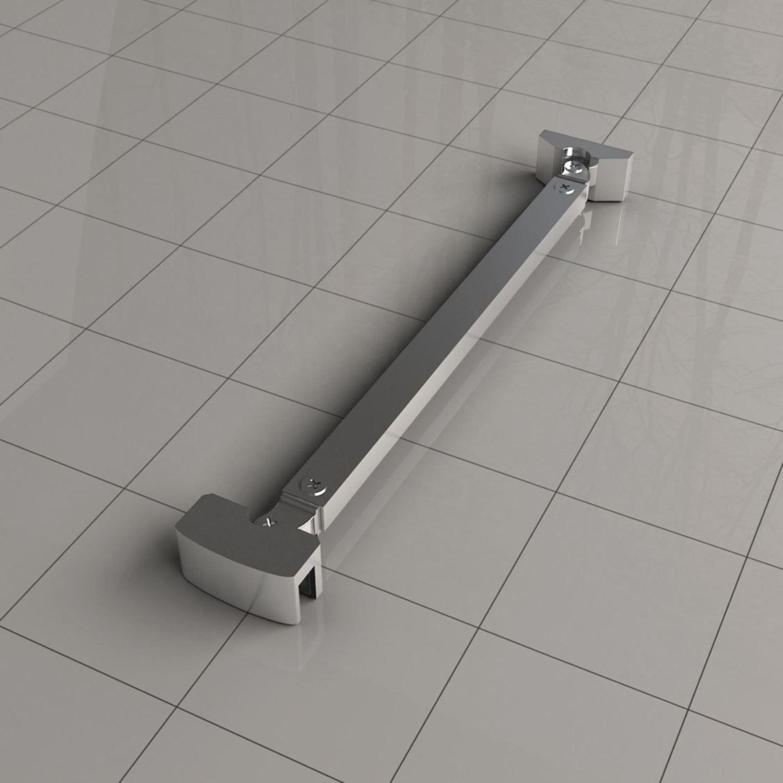 Sanitair-producten 62092 Stabilisatiestang 45 graden compleet, omkeerbaar 40cm