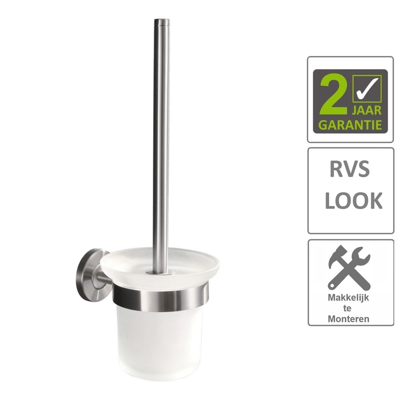 Sanitair-producten 74607 BWS Toiletborstelhouder Hera Met Borstel RVS