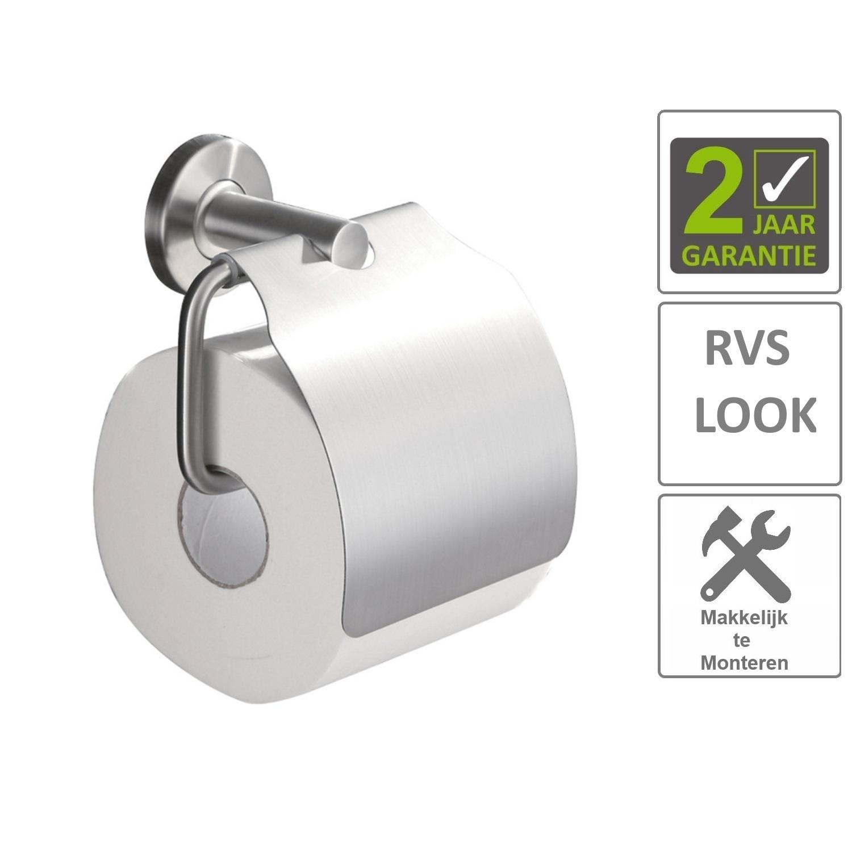 Sanitair-producten 74617 BWS Toiletrolhouder Hera Met Klep RVS