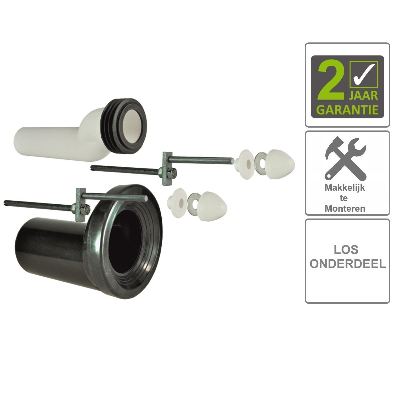BWS Wandcloset-Verhoogset Tbv Inbouwreservoir Compleet Zwart Sanitair-producten > Mat Zwart Sanitair kopen