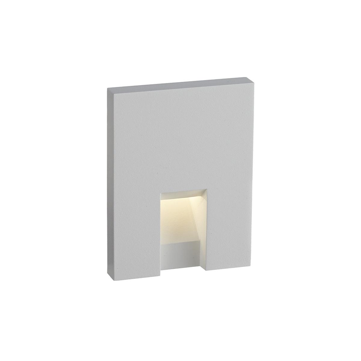 BWS Wandlamp LED Runn S 7.5x7.5x6.5 cm 1.5W 157Lm Aluminium Wit