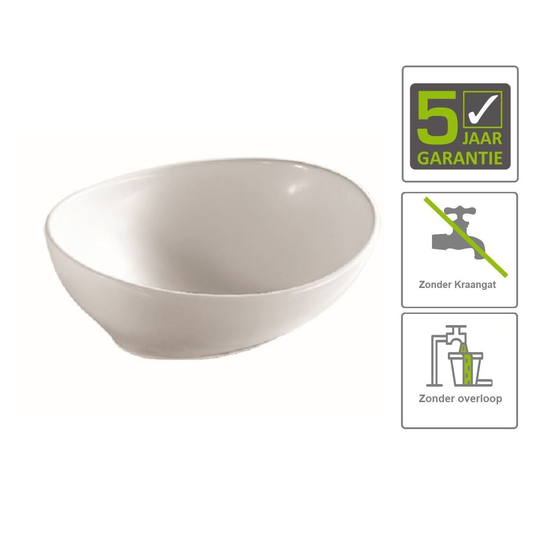 Sanitair-producten 66908 BWS Waskom Atomic 40x33x14,5 cm Wit
